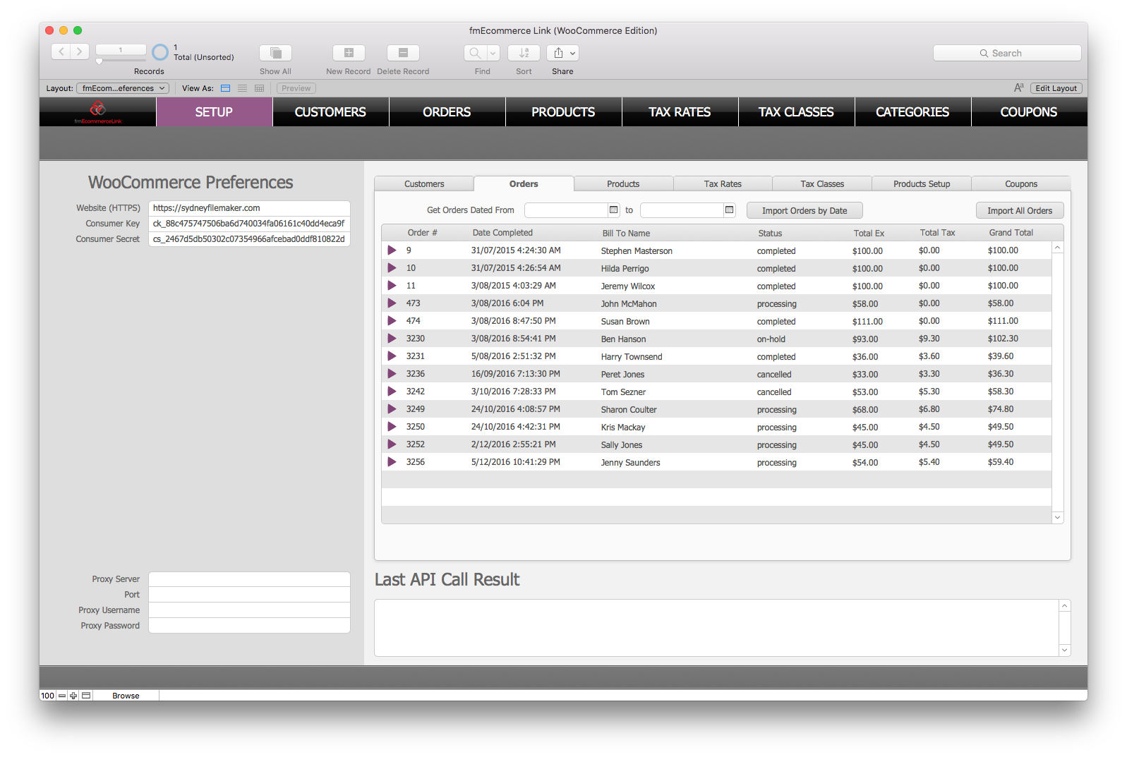 fmEcommerce solution in FileMaker Pro