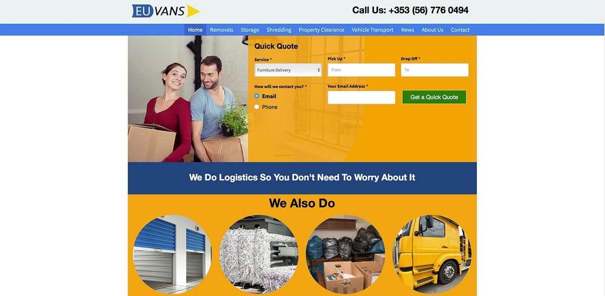EU Vans website