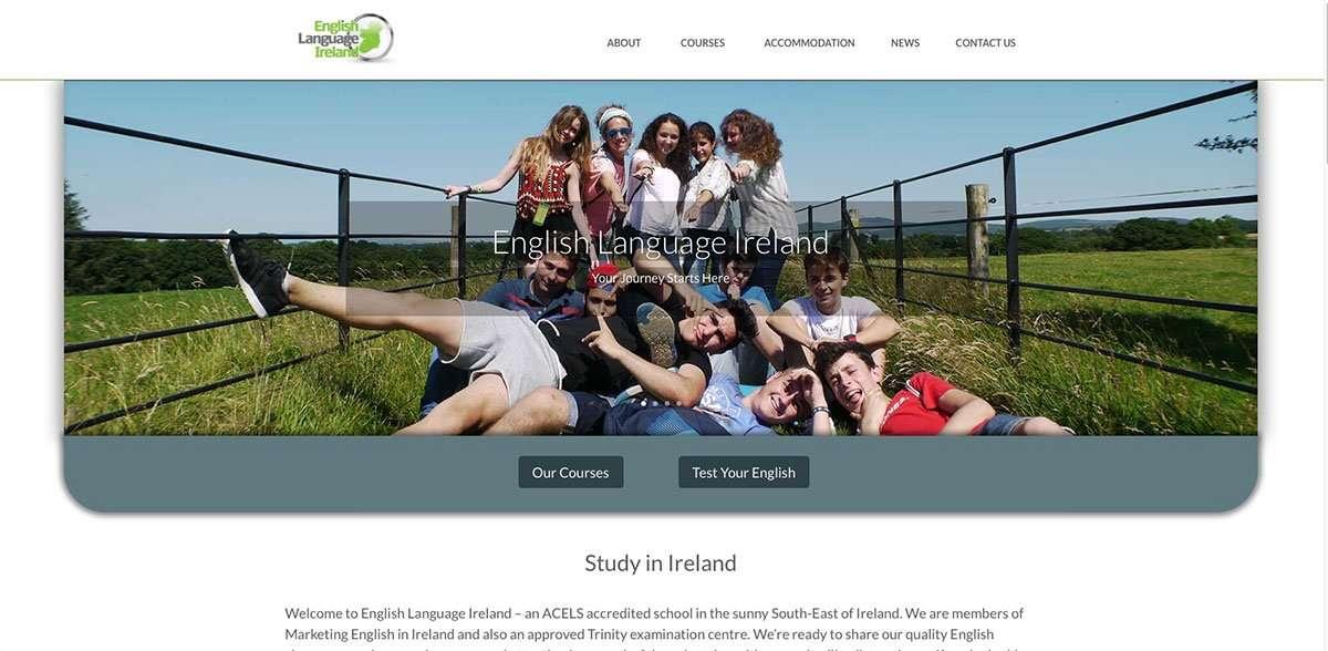 English Language Ireland website