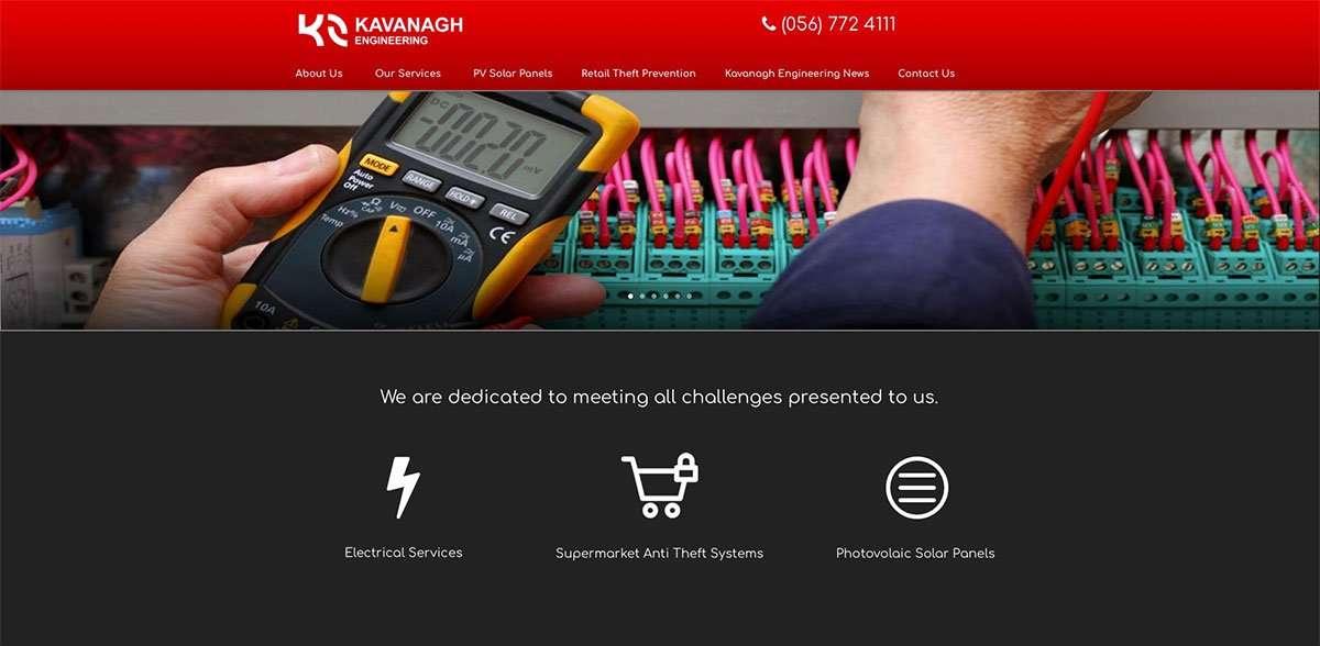 Kavanagh Engineering top of site