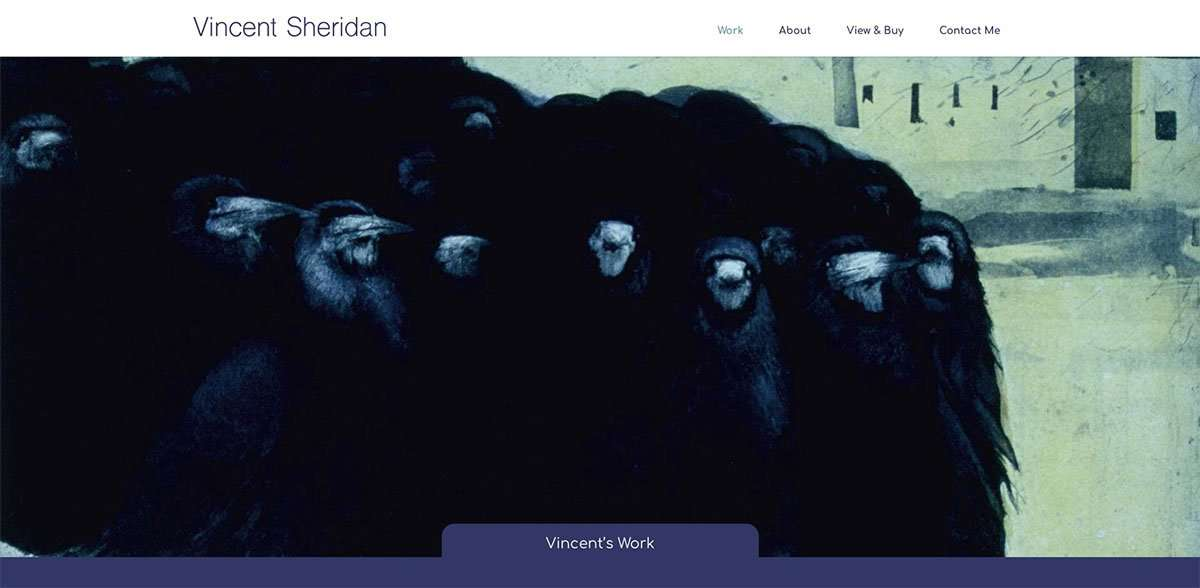 Vincent sheridan top of website