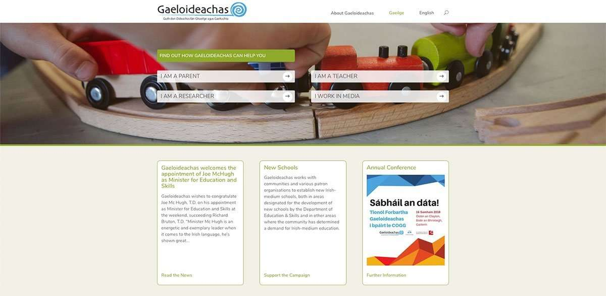 Gaeloideacahs top of website
