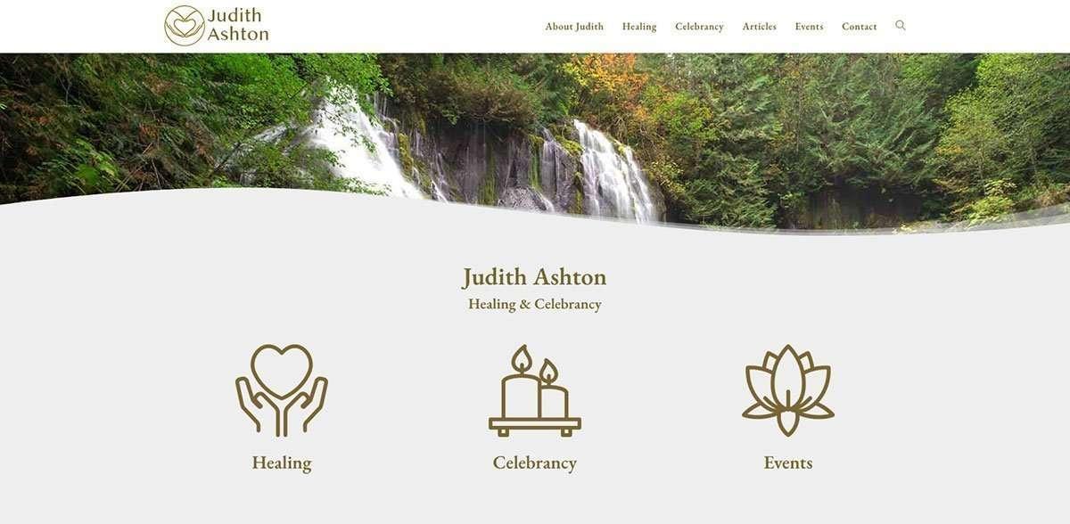 Judith Ashton top of website