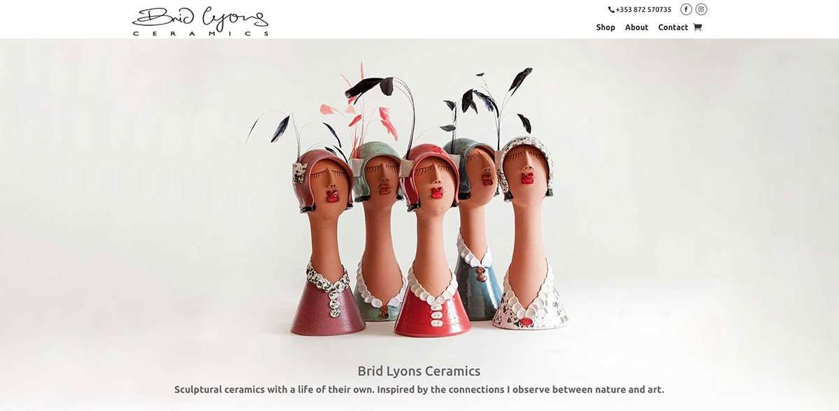 Brid Lyons Ceramics website