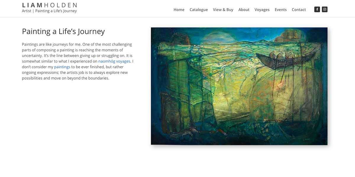 Liam Holden Website